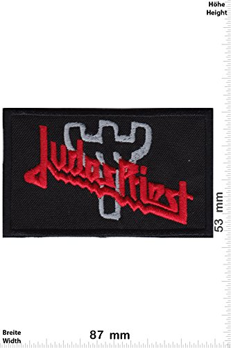 Patch - Judas Priest - red silver - Musica - Judas Priest - Judas Priest- toppa - applicazione - Ricamato termo-adesivo - Patch""