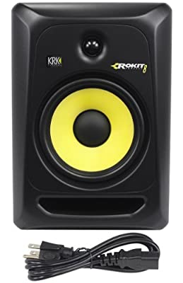 "KRK RP8-G3 Rokit Active 8"" Inch Studio Reference Monitor - Latest Gen With Updated Bi-Amped Class A/B Amplifier For Higher Performance at Lower Distortion from KRK"