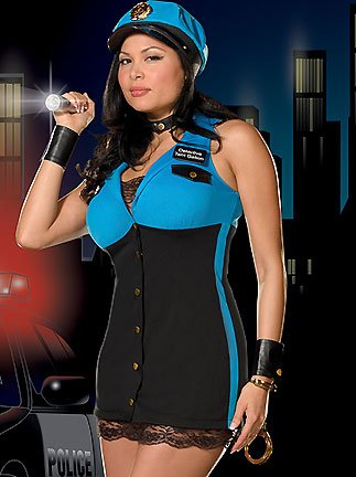 Detective Terri Gation Plus - Women's Plus Size Police Sexy Halloween Costumes