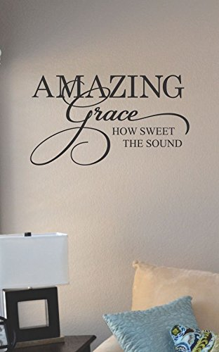 Amazing Grace How Sweet The Sound Vinyl Wall Art Decal Sticker front-647785