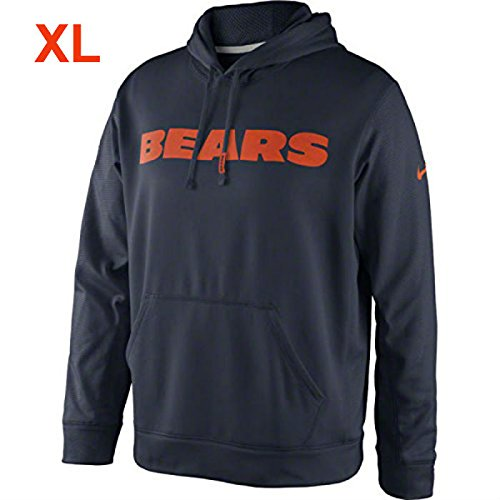 Nike Chicago Bears Adult Size X-Large XL Performance Hoodie Sweatshirt