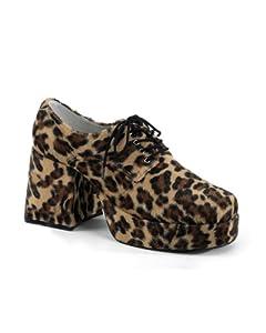 Ellie Shoes Mens Leopard Print Pimp Adult Shoes Tan Large by ELLIE SHOES