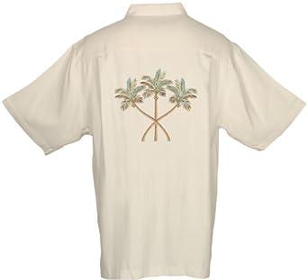 Sportailor luau men 39 s embroidered silk herringbone woven for Mens silk shirts amazon