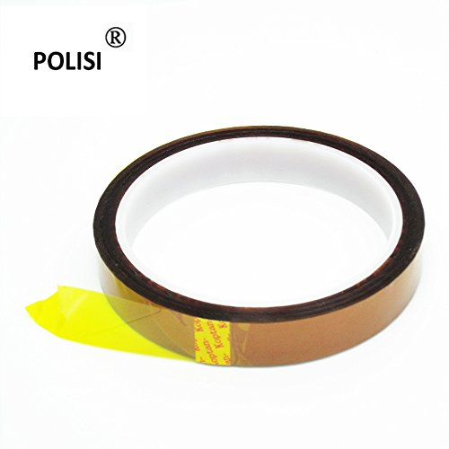 Polisi 2Pcs/Set 15Mmx33M Thickness 0.06Mm Kapton Tape Goldfinger Tape Polyimide Heat Resistant/High Temperature Adhesive Tape