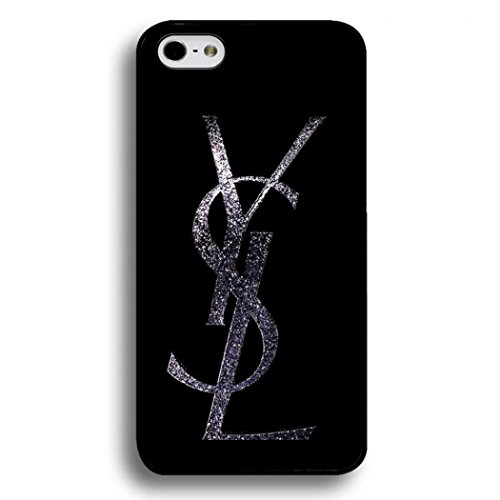 YSL Iphone 6/6S Case Cover,Simple Black Printed Yves Saint Laurent Logo Phone Case Black Hard Plactic Case Cover Snap on Iphone 6/6S