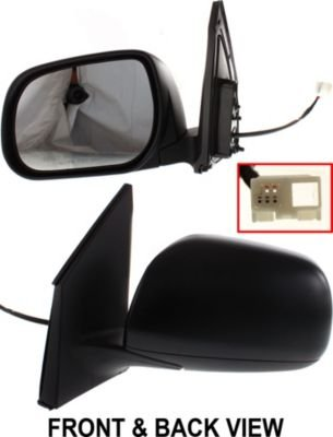 Folding Kool Vue Power Mirror For 2011-2012 Ford Fusion Textured Black Pair