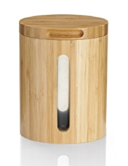 Large Bamboo Storage Jar