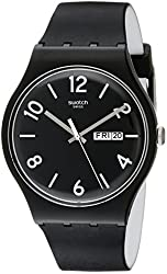 Swatch Unisex SUOB715 Originals Analog Display Swiss Quartz Black Watch