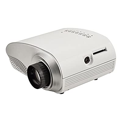 SainSonic RD802 Mini LCD Portable Projector Fashionable Home Theater HDMI For Video Games TV Moive TXT Music White