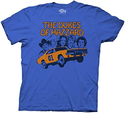 Dukes of Hazzard Retro Illustration Royal Blue T-Shirt