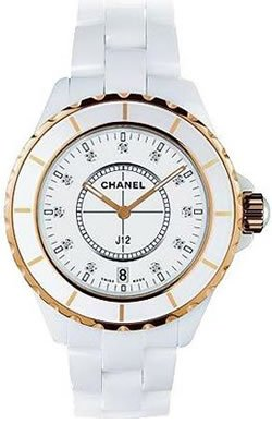 Chanel J12 White Ceramic Diamond Unisex Watch H2180