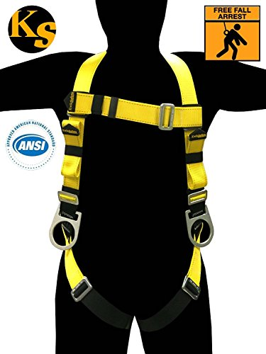 KwikSafety Fall Protection ANSI Multi-Purpose Construction Safety Harness with 3 D-Rings, Full Body Harness, Premium Safety Harness, Water Repellent Webbing, 5 points of Adjustment, Adult, Unisex (Roof Harness Kit compare prices)