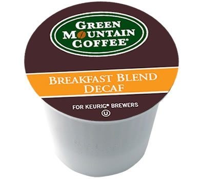 Green Mountain Breakfast Blend Decaf For Keurig Brewer 24 K-Cups (4 Pack)
