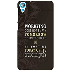 HTC Desire 820 Back Cover - Worrying Designer Cases