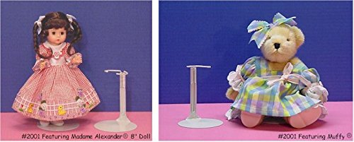 """Kaiser Doll Stand 3701 White Doll Stand For 20/"""" To 30/"""" Chubby-Waisted Dolls New"""