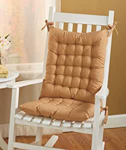 Rocking Chair Cushion Set Tan Patio Lawn Garden