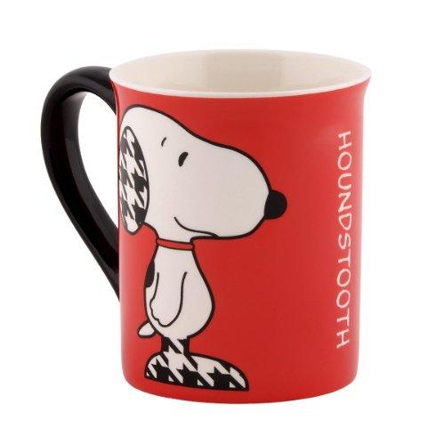 Department 56 Peanuts Mug, 4.5-Inch, Houndstooth