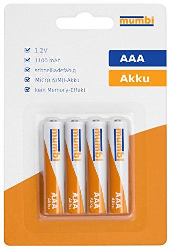 4x-mumbi-AAA-Micro-NiMH-Akku-1100mAh-12V-Batterie