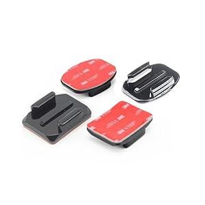 JMT 2pcs plat + 2pcs incurvée Mont collant adhésif pour GoPro HD Hero2 Hero3 Camera Sport DV