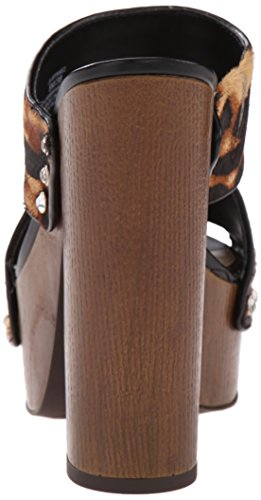 Jessica Simpson Women's Wynne2 Platform Dress Sandal, Natural/Black, 7.5 M US