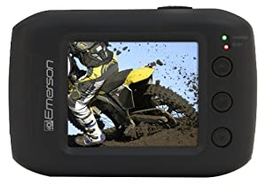 Emerson EVC355BK HD Sport Action Camera Kit With 1.77 LCD, Black