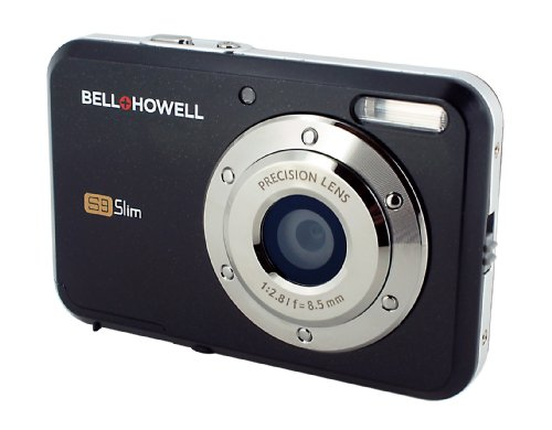 Bell and Howell S9 Slim 12 MP Digital Camera with 8x Digital Zoom and 2.7-Inch LCD Screen (Black)