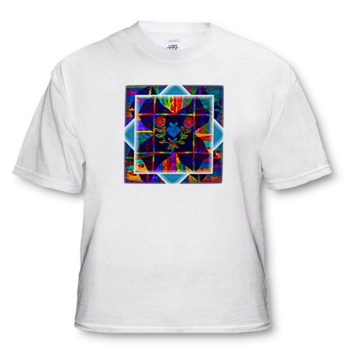 Colorful Folk Art Quilt - Adult T-Shirt 4XL