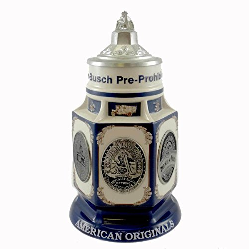"2002 Anheuser-busch ® "" Pre-prohibition Beer "" Lidded Stein"