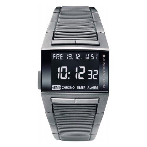 Junghans Mega 1000 TITAN 026/2800.44 - Reloj de caballero de cuarzo, correa de acero inoxidable color gris