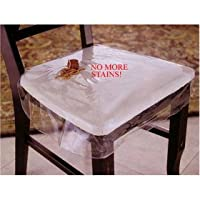 """Clear Vinyl Chair Protectors - Set of 2 (Clear) Fits Chairs up to 21"""" x 21"""" (Actual Size 26"""" X 25 3/4"""") from LAMINET COVER COMPANY"""