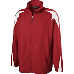 Holloway Mens Illusion Jacket (Large, Scarlet/white)