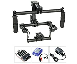 Flycam Buddy-2 (FLCM-BDY) HIGH Quality Toolless Carbon Fiber DSLR 2 axis Handheld GIMBAL Camera Stabilizer Steady cam Steadicam Stabilization System for DSLR DV Camera upto 1kg to 1.5kg Sony Nikon Canon Panasonic
