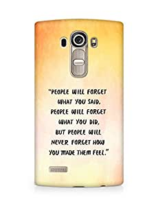 AMEZ people will forget what you said did Back Cover For LG G4