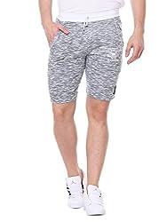 Glasgow Men's Cotton Shorts (NICK406_Grey_Medium)