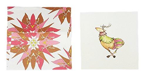 [해외]C.R. Gibson Cid Pear 선물용 인클로저 카드 - 6 개, 순록 (XCID4-10707)/C.R. Gibson Cid Pear Gift Enclosure Cards - Pack of 6, Reindeer