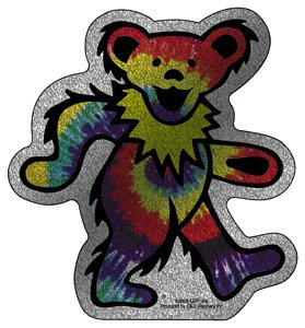Licenses Products Grateful Dead Dancing Bear Glitter Sticker