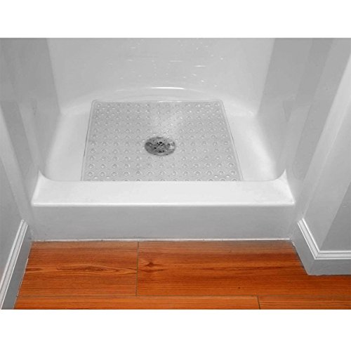 "Evelots Comfortable Vinyl Square Shower Mat (21"" by 21"") Very Durable - 1"