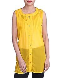 Iande Yellow Color georgette top