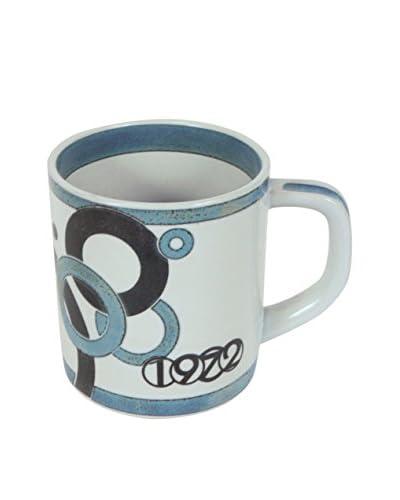 Royal Copenhagen 1972 Annual Mug, White/Blue/Navy