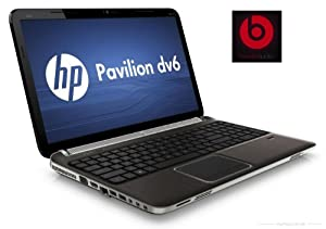 "HP Pavilion dv6t Quad Edition (dv6tqe) Laptop -2nd generation Intel Quad Core i7-2670QM (2.2 GHz) / 8GB DDR3 System Memory / 750GB 5400RPM Hard Drive / 15.6"" diagonal High Definition HP BrightView LED Display (1366x768) / Blu-ray player & SuperMulti DVD burner / HP TrueVision HD Webcam with Integrated Digital Microphone and HP SimplePass Fingerprint Reader / 2 USB 3.0 / Beats Audio / dark umber"