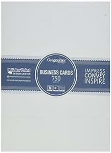 Amazon Geographics Standard Printable Business Cards