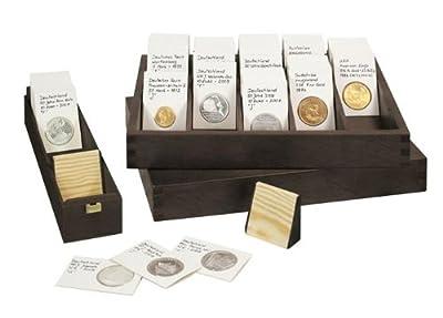 Lindner RCB-2 Box en bois massif pour env. 400-500 étuis numismatiques en carton