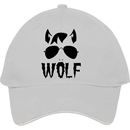 Wolf Face Man With Type And Aviator Sunglasses Good Halloween Costume Snapback Cap Hat For Male/female Baseball Cap Cotton Joannaallen