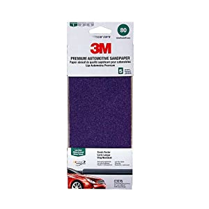"3M 03076 3-2/3"" x 9"" 80 Grit Premium Automotive Sandpaper, (Pack of 5) at Sears.com"