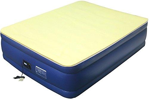 Airtek Full Flocked top air mattress PLUS 1″ High Density Visco Elastic Memory Foam Mattress Topper 2ABF04005-M