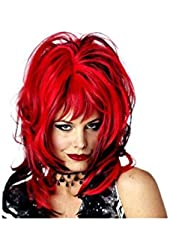 Wig Hard Rockin Witch Black Red