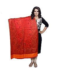 IndistarFashion Women Orange Viscose Shawl