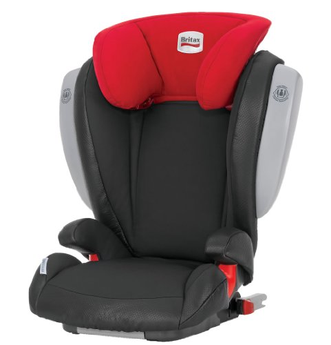 Britax Kidfix ISOFIT with Side Impact Cushion Technology Group 2-3 Booster Seat (Kim/Black and Red)