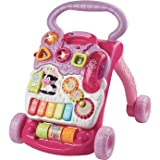 Delightful VTech Baby First Steps Walker - Pink - Cleva Edition ChildSAFE Door Stopz Bundle