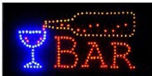 Open Bar Led Neon Business Motion Light Sign. On/off with Chain 19*10*1 (Bar Lights compare prices)